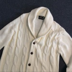 Vintage Shawl Collar Fisherman Grampa Sweater L XL